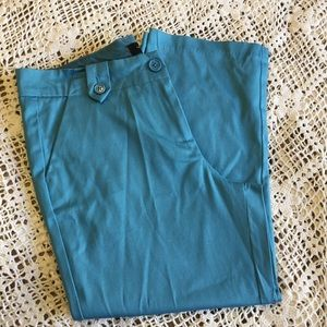 THE LIMITED TEAL BLUE CROPPED PANTS SIZE 4 NWOT